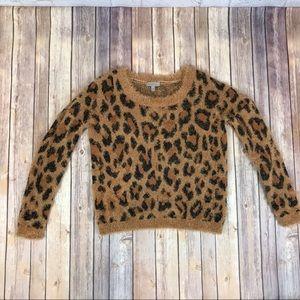 Wonderly Cheetah Leopard Print Sweater SOFT!